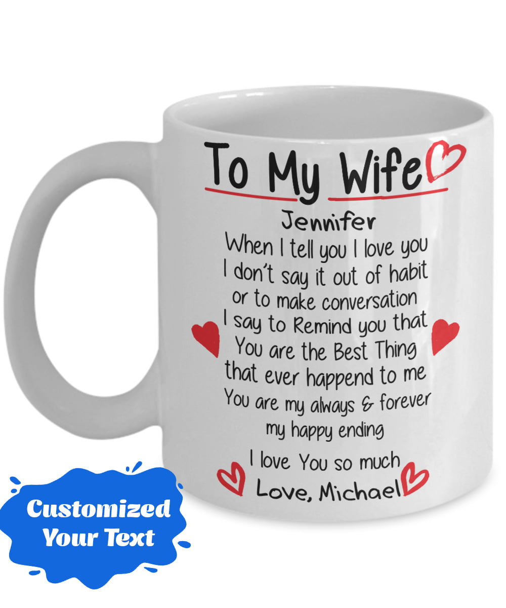 Mother/'s Day Romantic Gift For Wife Mug Details about  /I Love My Smokin/' Hot Wife Coffee Mug